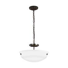 Sea Gull 7715202-782 - Two Light Semi-Flush Convertible Pendant