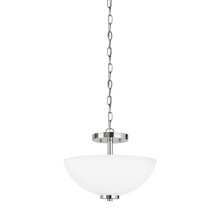 Sea Gull 77160-05 - Two Light Semi-Flush Convertible Pendant